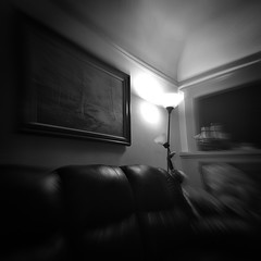 (astro twilight) Tags: empty blur lamp room hipstamatic iphone blackandwhite pinhole