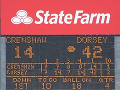 D164067P (RobHelfman) Tags: crenshaw sports football highschool losangeles dorsey coliseum scoreboard