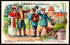 Liebig Tradecard S801 - The Poor Travelling in 1804 (cigcardpix) Tags: tradecards advertising ephemera vintage liebig chromo