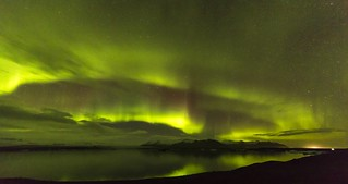 Timelapse of the Aurora Borealis in Iceland
