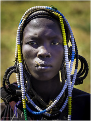 Mursi Tribe Woman (Luc V. de Zeeuw) Tags: chainlet color ethiopia girl headdress mun mursi omo omovalley tribe woman southernnationsnationalitiesandpeoplesregion