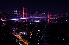 Beams Of Passion (aproram) Tags: istanbul turkey bosphorus bogaz boaz trkiye night clear skyline porn contrast midnight metropolitic aproram bulb long exposure pure citylight christmas charm