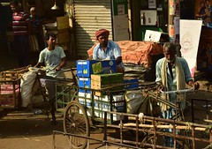 Use of trikes 1 (victoriaei) Tags: kolkata october streetscenes india trikes delivery workers resting wonderfulworld travel d5300 indianstreetphotography streetphotography asia nikon