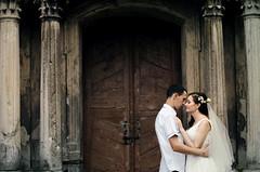 (prumara) Tags: wedding love together architecture oldtime couple temple column door