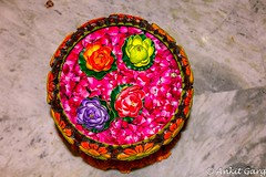 Artificial flower decoration (Razor348) Tags: crackers decoration diwali family festival fun holiday home lights masti rangoli