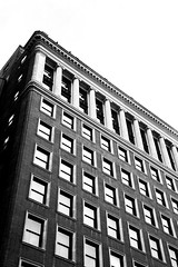 Downtown St Louis Building Black and White (adamopal) Tags: canon canon5d canon5dmkiii oldbuilding downtownstlouis downtown stlouis stlouismo stlouismissouri mo missouri visitmo visitmissouri monochrome blackandwhite
