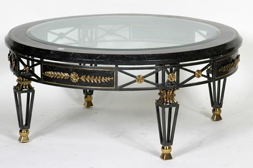 Iron Base Elegant Glass Top Bistro Table ($280.00)