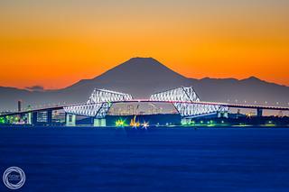 Tokyo Gate Bridge with Mt. Fuji