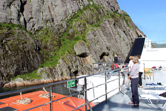 Entering the Trollfjord on a Tourist Ship (13) (Phil Masters) Tags: 21stjuly july2016 norwayholiday norway raftsund raftsundet thetrollfjord trollfjorden trollfjord shipsandboats hurtigruten msspitsbergen tourists