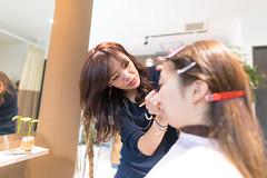Japanese cosmetician making up in beauty salon (Apricot Cafe) Tags: img4735 asianethnicity japan japaneseethnicity kimono sigma20mmf14dghsmart tokyo beauty beautysalon ceremony culture enjoy hairsalon happiness peaceful twopeople woman youngadult minatoku tkyto jp