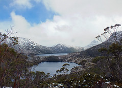 Lilla Lake (LeelooDallas) Tags: australia tasmania cradle mountain landscape dana iwachow fuji finepix hs20 exr dove lake water cloud sky tree forest