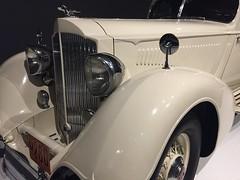 Rolling Sculpture - NC Museum of Art (jfmecca) Tags: car artdeco nc raleigh ncmuseumofart rollingsculpture classic 1934 packard twelve model1106 white iphone mobile headlights