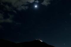 Night sky (Colorful-wind) Tags:   airplane nature  moon fujifilm light moonlight  nightview xt1 fukuoka sky  lightandshadow  japan mountain