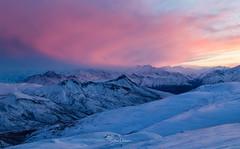 Two Ranges {Explored} (spwasilla) Tags: sunset mountains winter alaska talkeetna chugach snow landscape canon canon6d tamron