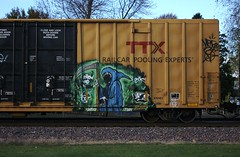 Natas (quiet-silence) Tags: graffiti graff freight fr8 train railroad railcar art natas ctk boxcar ttx tbox tbox667942