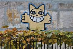 Monsieur Chat_5735 rue du Chalet Paris 10 (meuh1246) Tags: streetart paris monsieurchat rueduchalet animaux chat paris10