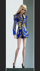 A-Z Challenge: V - Vertical Lines (BlackBastet) Tags: fashionroyalty fashion doll agnes weiss agnesvonweiss ooak