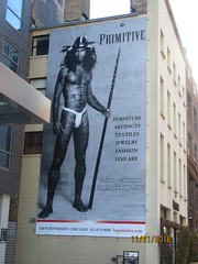 """Primitive"" (cohodas208c) Tags: primitive advertising mural westloop chicago questionable"