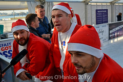Paul, Liam and Stephen Smith (James O'Hanlon) Tags: santadash santa dash katumba liam smith paul stephen liamsmith paulsmith stephensmith alankennedy philipolivier tinhead alan kennedy btr juliana ritchie photo shoot press ice rink icerink lfc