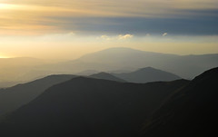 Sunset in the hills (scarlettKezia.) Tags: sunset layers hills lakedistrict haze mountains outdoors clouds landscape mountain outdoor cloud sky