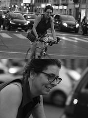 [La Mia Città][Pedala] (Urca) Tags: milano italia 2016 bicicletta pedalare ciclista ritrattostradale portrait dittico bike bicycle nikondigitale biancoenero blackandwhite bn bw 907143