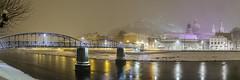 In Salzburg an der Salzach (dejott1708) Tags: nightshot nacht langzeitbelichtung long exposure panorama salzburg austria sterreich schnee snow fluss river