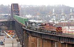 When I think of Pittsburgh I think of . . . (craigsanders429) Tags: norfolksouthern norfolksoutherntrains pittsburgh pittsburgharearailroads nsinpittsburgh nsmonline bridges railroadbridges ns8102 pennsylvania pennsylvaniarailroad nsheritagelocomotives nspennsylvaniarailroadheritageunit nspennsyheritagelocomotive nsprrheritagelocomotive stacktrains nsstacktrains ocbridge ohioconnectingbridge