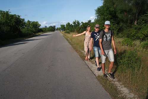 Hitchhiking into Stone Town from Paje