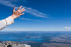 Rachel S (nevadoyerupaja) Tags: summer usa mountain girl female outdoors nikon adventure ridge climbing guide wyoming henna guides grandteton clients guiding exum nikond7000 nikon1024mmf35