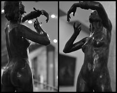 The Snake Charmer (jaroslavd) Tags: woman statue naked nude diptych budapest sensual istvan sensuous hungariannationalgallery diptic szentgyorgyi
