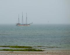 Boat in Irish sea. Not far away from Millisle. (hansdjong) Tags: ireland coast ship northernireland ierland irishsea millisle noordierland