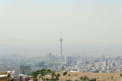 (kamshots) Tags: tower iran smoke tehran milad polution
