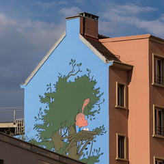 Titeuf (bertrandwaridel) Tags: city summer building wall switzerland town suisse lausanne september vaud muralpainting zep 2015 titeuf rôtillon