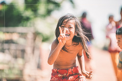 My First Selfie (reubenteo) Tags: poverty charity people love portraits children photography frames couple cambodia village happiness malaysia kampung siemreap touching selfie