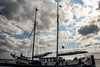 Schuttevaer (Tristan Roebersen) Tags: white black water tristan canon dark eos evening boat back cool war gun driving sailing awesome sails sail to guns sailor epic pampus darky 2015 1ste skob schuttevaer awesomenss 1200d roebersen
