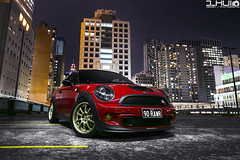 OFIM Mini (Joseph Hui (J_HUI)) Tags: city red car night skyscraper canon low sydney mini coopers 6d lightpaint advan 24105f4l jhui ofim rzdf