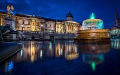 fountains (Steve J Cottis) Tags: longexposure london trafalgar nelson nighttime fountains tokina1116mm28 nikond5300