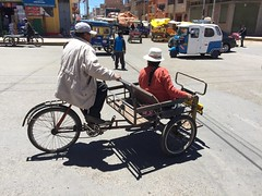 Three-wheeled pedicab on the streets of Puno (fiftybybike) Tags: workbike