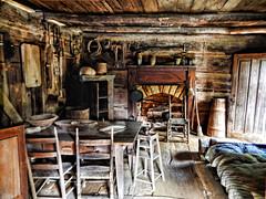 Appalachian Home (bob3toes) Tags: art table log cabin nikon inside 3toes