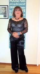Satin pants (Trixy Deans) Tags: cute sexy tv cd crossdressing tgirl tranny transvestite satin transgendered crossdresser crossdress sexylegs transsexual shemale trixy tgirls shemales sexyheels crossdresse trixydeans sexytransvestite