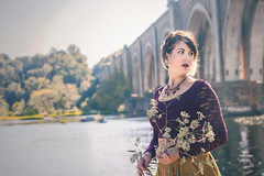 Portrait Practice (Joey Wharton) Tags: bridge portrait river outside outdoors james virginia photo photoshoot richmond va rva