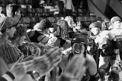 rebels_vs_panic_L1063771 1 (nocklebeast) Tags: ca usa santacruz rollerderby rollergirls zombies vampires skates organicpanic santacruzderbygirls redwoodrebels