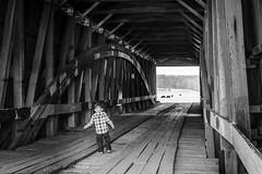 Duncan on Bridge (C-Roh) Tags: bridge boy white black cow covered