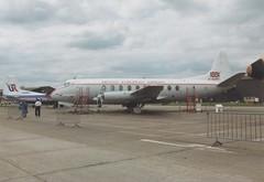 Vickers Viscount - G-ALWF @ IWM Duxford 1990 (Andy Reeve-Smith) Tags: bea rollsroyce dart vickers viscount britisheuropeanairways galwf