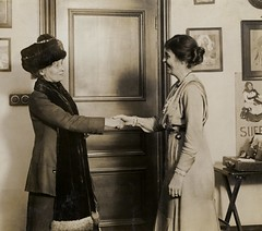 Emmeline Pankhurst and unidentified woman, c.1912.