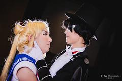 Sailor Moon () & Tuxedo Mask () (btsephoto) Tags: portrait moon anime lens hotel dallas costume texas fuji play mask animefest cosplay iii flash tuxedo r chiba convention fujifilm sailor 1855mm sheraton lm fujinon  xf mamoru ois afest xt1 f284  yongnuo yn560