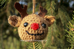 AmigurumiXmas_04w (Morgana209) Tags: christmas tree lana reindeer snowman handmade amigurumi albero pino natale pupazzo renna creatività alberello natalizzi natale2015