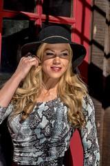 HI0A6936 (fotodan57) Tags: street portrait sexy girl beautiful smile hat canon skinny outside outdoors model dress sunny blond