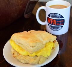 Egg Biscuit at WPA (pjpink) Tags: winter coffee breakfast virginia december egg richmond biscuit wpa rva churchhill 2015 pjpink wellmadepastryalliance