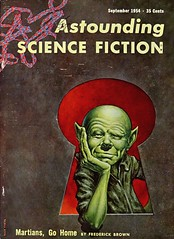 Astounding Science Fiction Vol. 54, No. 1 (Sept., 1954). Cover Art by Kelly Freas (lhboudreau) Tags: mars green illustration magazine gnome drawing coverart illustrations drawings 1954 pulpfiction sciencefiction pulp magazines pulpmagazine martiansgohome freas martian pulpcover magazineart magazinecover magazinecovers martians astounding pulpmagazinecovers greenalien pulps pulpcovers pulpart pulpmagazines astoundingsciencefiction kellyfreas frederickbrown frankkellyfreas martianinvasion pulpmagazinecover astoundingstories vintagepulpart magazinecoverart september1954 vintagepulpcovers astoundingsciencefictionmagazine vintagepulpcover volume54number1